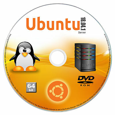 UBUNTU LINUX 18 04 64 Bit Operating System Install Live Bootable DVD