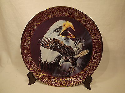 ROYAL DOULTON:Plate Freedom's Glory by Ronald Ruyckevelt FRANKLIN EAGLE ASSIETTE