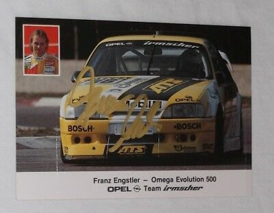AK Opel Omega Evolution 500 DTM 1991 Franz Engstler Team Irmscher Autogramm sign