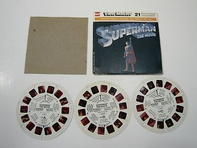 Viewmaster showtime Superman the movie Canada edition J78C 1978