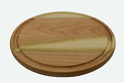 Cherry Wood American Made Cutting Board  with Juice Drip Groove 14 inch Round
