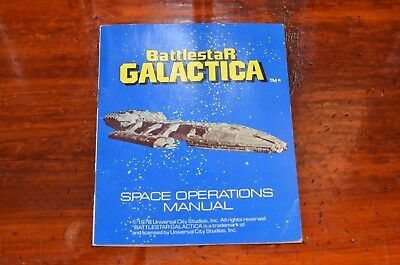 Battlestar Galactica Space Operations Manual from General Mills Cereal Kit 1978