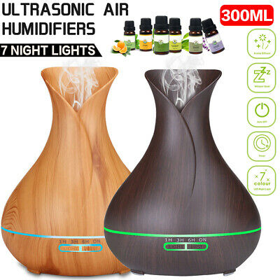 New Humidifier Essential Oil Diffuser Aroma Lamp Aromatherapy Electric Air Mist