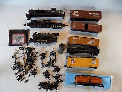 N Scale Assorted Parts, Pieces And Cars