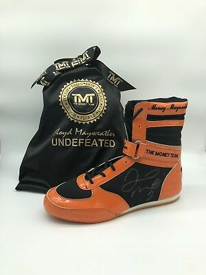 Floyd Mayweather Anthony Joshua Dust Bag TMT Signed Boxing Glove Boot