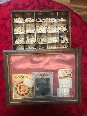 100 Year Old  Hickok Belt Buckle Display With Vintage Buttons! Very Ornate