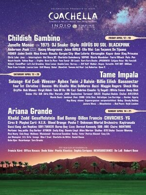WEEKEND 1 - Coachella 2019 - 2 TICKETS & CAR CAMPING PASS - APRIL 12-14