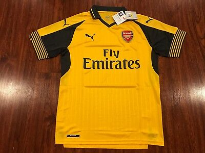 4019ff1f2dc NWT ARSENAL PUMA 2016 2017 Gunners Jersey Dry Cell Fly Emirates ...