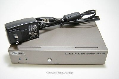 Gefen DVI KVM over IP Sender Unit with Power Supply / EXT-DVIKVM-LANS / CC