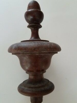 Antique walnut finial   (#69)