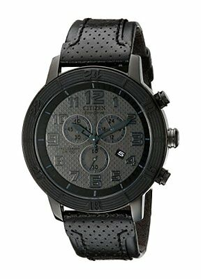 *BRAND NEW* Citizen Men's Eco-Drive Black Dial Stainless Steel Watch AT2205-01E