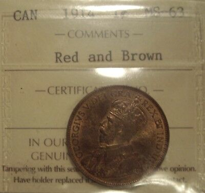 Canada George V 1914 Large Cent - ICCS MS-63