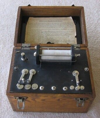 Antique Portable Faradic Battery with Cabinet~Electropathy Quack Medical Device