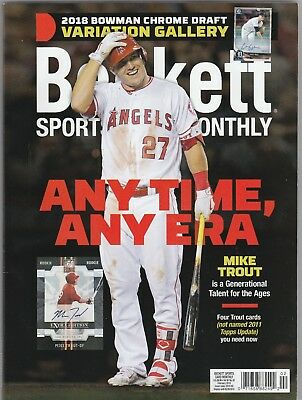 New Beckett Sports Card Monthly Price Guide Magazine, February 2019 (Mike Trout)