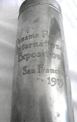 Rare Antique Metal Thermos * Panama Pacific International Exposition * PPIE