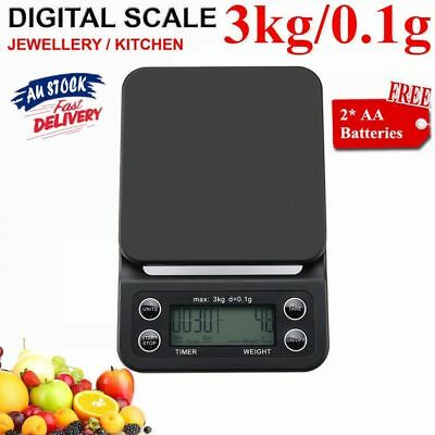 3kg/0.1g Digital Scale Electronic Platform Scale with Timer Function XROZ