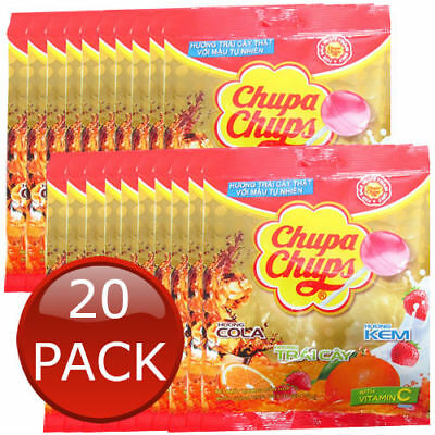 20 x CHUPA CHUPS BEST OF ALL LOLLIPOPS 10 PACK LOLLIES CANDIES PARTY BULK 100g