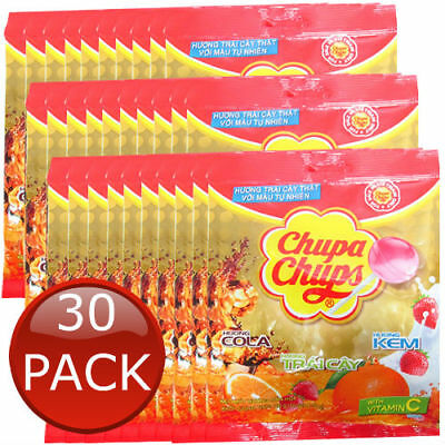 30 x CHUPA CHUPS BEST OF ALL LOLLIPOPS 10 PACK LOLLIES CANDIES PARTY BULK 100g