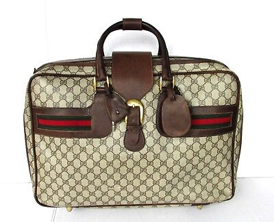 e7914cb55a3 Authentic Vintage GUCCI Carry On Travel Bag Suitcase Weekender Luggage  UNISEX GG