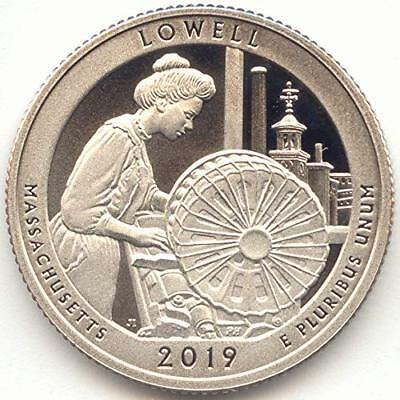 2019-S ATB Quarter, Lowell National Historical Park Massachusetts Clad Proof