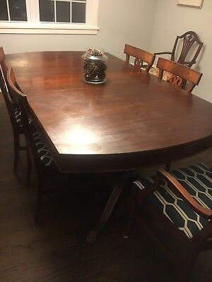 Antique Mahogany Dining Room Table and Chairs