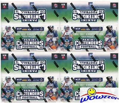 (4) 2016 Panini Contenders Football MASSIVE 24 Pack Factory Sealed Retail Boxes