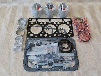 Kubota D750 Overhaul Kit / Pistons, Rings, Bearings, Gasket Set
