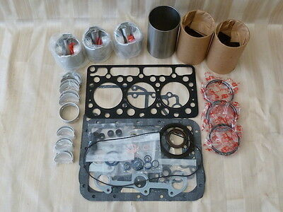Kubota D750 Overhaul Kit / Liners, Pistons, Rings, Bearings, Gasket Set