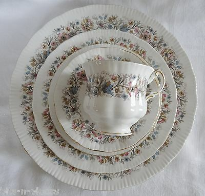 PARAGON MEADOWVALE lot 5 5 Pc Place Setting Dinner Salad Side Cup Saucer 25 pcs