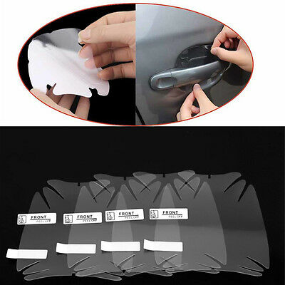 8x Clear Universal CAR Door Handle Protector Film Scratch Paint Protect Sticker