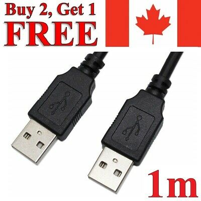 USB to USB Extension Cable 2.0 Male to Male Data Charger Extender 1m