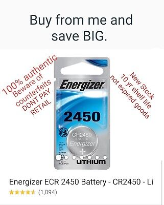 LOT of 1 Energizer Lithium CR2450 2450 ECR2450 3V Coin Cell Batteries remote