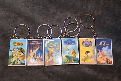 Oh My Disney Mystery VHS Keychain-Complete Set Of 6-New without Box