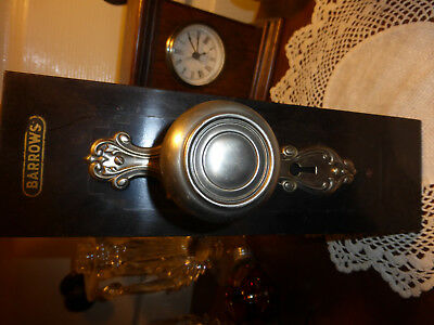 Vintage Barrows Brass Door Hardware Stand Up Sample on Wood Base-#1 of 3