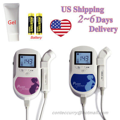USA Baby Sound C Fetal Doppler Prenatal Heart Monitor 3m probe  gel + battery