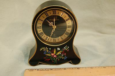 Vintage Antique German Alarm Clock with Reuge Swiss Musical Movement