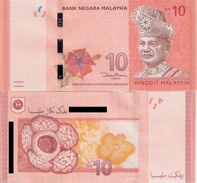 CHEAPEST MALAYSIA 10 Ringgit Banknote World Money Currency P53 2012 Rahman