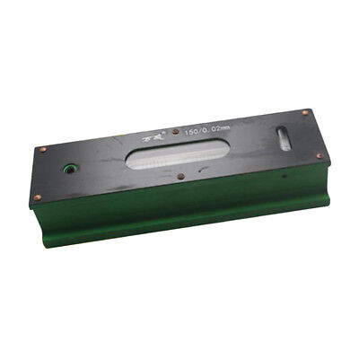Precision Level Bar Leveler, High Accuracy 0.02mm, with Storage Case 150mm