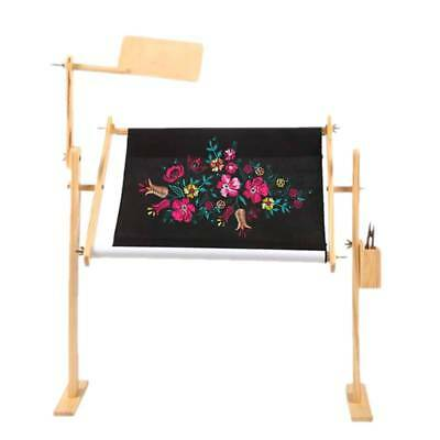 Wooden Cross Stitch Rack Desktop Embroidery Frame Wood Adjustable Stand Shelf