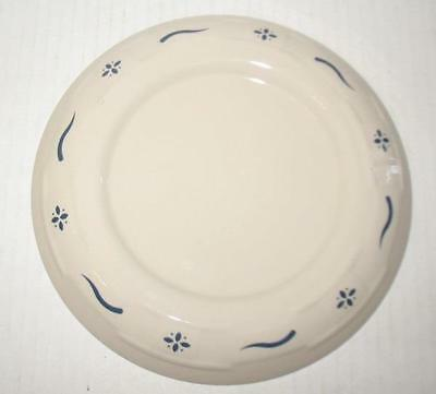 Longaberger Pottery Woven Traditions Classic Blue Candle Plate
