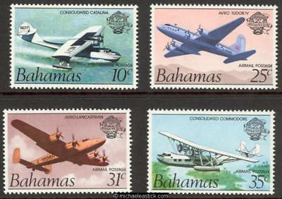 1983 Bahamas Manned Flight, Set of 4, SG 663-666 MUH