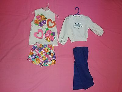Vintage 1970s baby girl toddler lot birthday outfit set spring summer  3 to 4