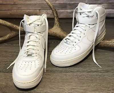 39174aa5b19d8c Nike Air Force 1 High 07 Men s Shoes Sneakers 315121-115 12 Solid White