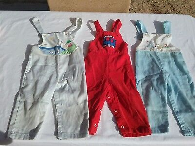 Vintage 1970s baby toddler overall coverall pants lot train applique duck 18 m