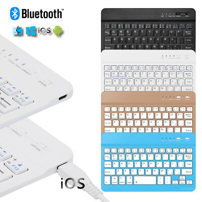 Ultra Slim Wireless Bluetooth Keyboard Portable For iOS Android Phone Tablet-PC/