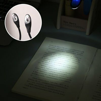 Reading Light LED Book Stepless Brightness USB Rechargeable Clip On Lamp AG