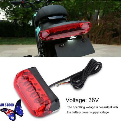 36V LED Tail light E-bike Turn Signal Rear Lamp Electric Bicycle Ebike Security