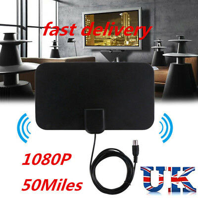 Thin Freeview Indoor Digital TV Aerial HDTV Antenna 50 Mile Range  1 Class
