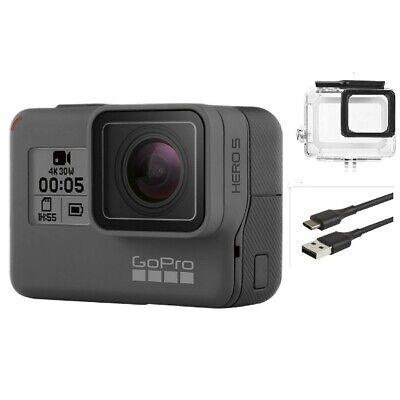 New GoPro HERO 5 Black Waterproof Action 4K Ultra HD Camera Touch Screen 12MP US