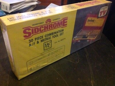 Sidchrome 30 Piece Socket Set Made In Australia